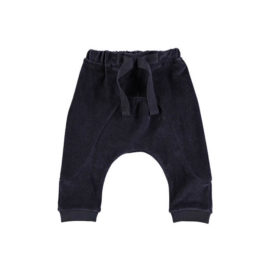 GRO baggy babybukser Wilde i velour - Dark washed