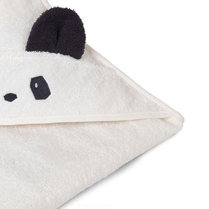 Liewood Håndklæde m. hætte - Panda - KØB ONLINE