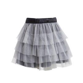 Little Pieces nederdel tyl tylskørt grå