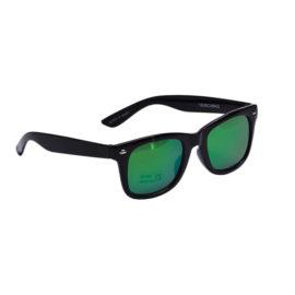 Little Pieces solbriller sort stel grønne glas