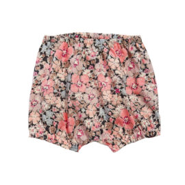 Huttelihut bloomers m. Liberty blomster - Rose pink