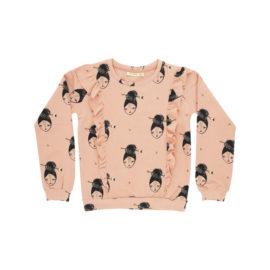 Soft Gallery sweatshirt 1 - Rose cloud aop Arrowgirl